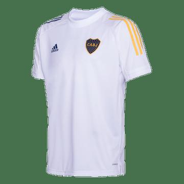 Camiseta-Adidas-de-Entrenamiento-Blanca-Boca-Jrs