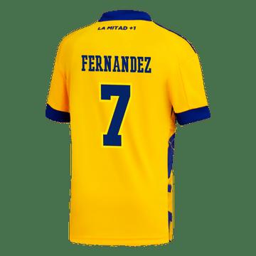 Camiseta-Adidas-3°-Equipacion-de-Juego-Boca-Jrs-20-21-Personalizado---7-FERNANDEZ