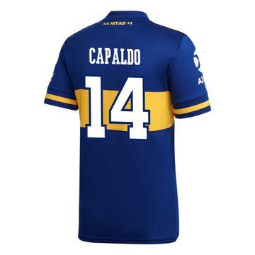 Camiseta-Infantil-Titular-de-Juego-Boca-Jrs-20-21-Personalizado---14-CAPALDO