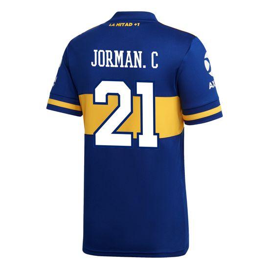 Camiseta-Infantil-Titular-de-Juego-Boca-Jrs-20-21-Personalizado---21-JORMAN-C.