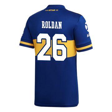 Camiseta-Infantil-Titular-de-Juego-Boca-Jrs-20-21-Personalizado---26-ROLDAN